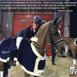 Charlotte's horsepower boosts The Brooke equine charity
