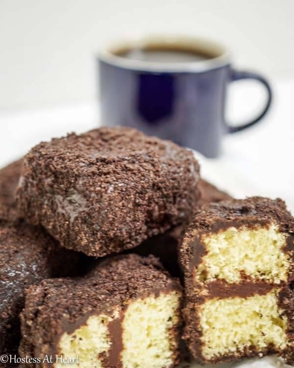 Triple Chocolate Lamingtons - Hostess At Heart