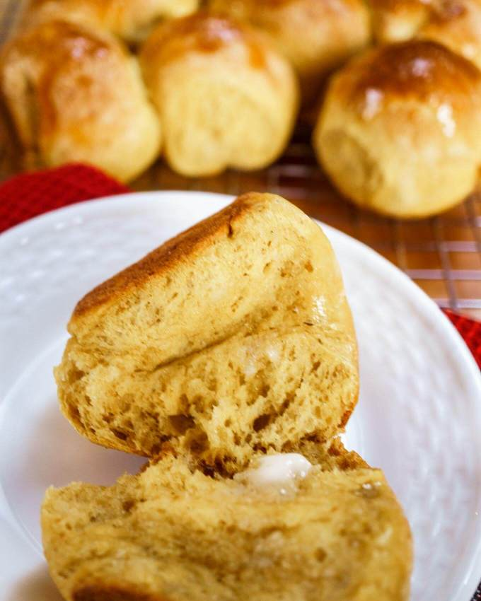 Light and delicious Pumpkin Yeast Bread makes a beautiful addition to any meal. This recipe is easy, versatile, and perfect for your holiday table. You can make delicious loaves, rolls or both!   HostessAtHeart.com