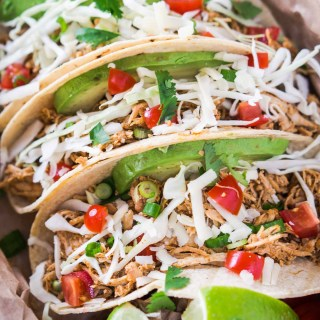 Crockpot Chipotle Chicken Tacos take the guesswork out of what's for dinner. Everyone will love this simple yet delicious recipe   HostessAtHeart.com