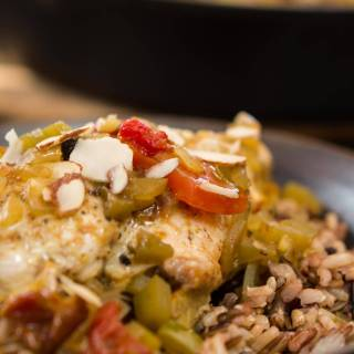 This Country Captain Chicken recipe is easy, delicious, healthy and it's all made in one pan! It has a lot of history that combines Indian and Southern cultures   HostessAtHeart.com