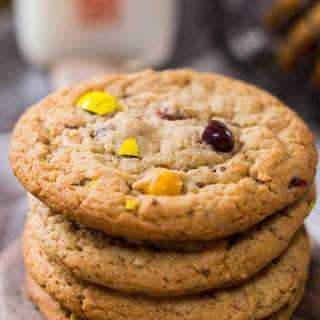 M&M's® Honey Nut Cookies taste like a big ole hug. They are warm from the fresh honey and the delicious flavor of the M&M's® Honey Nut candy gives these cookies a sweet nutty flavor   HostessAtHeart.com