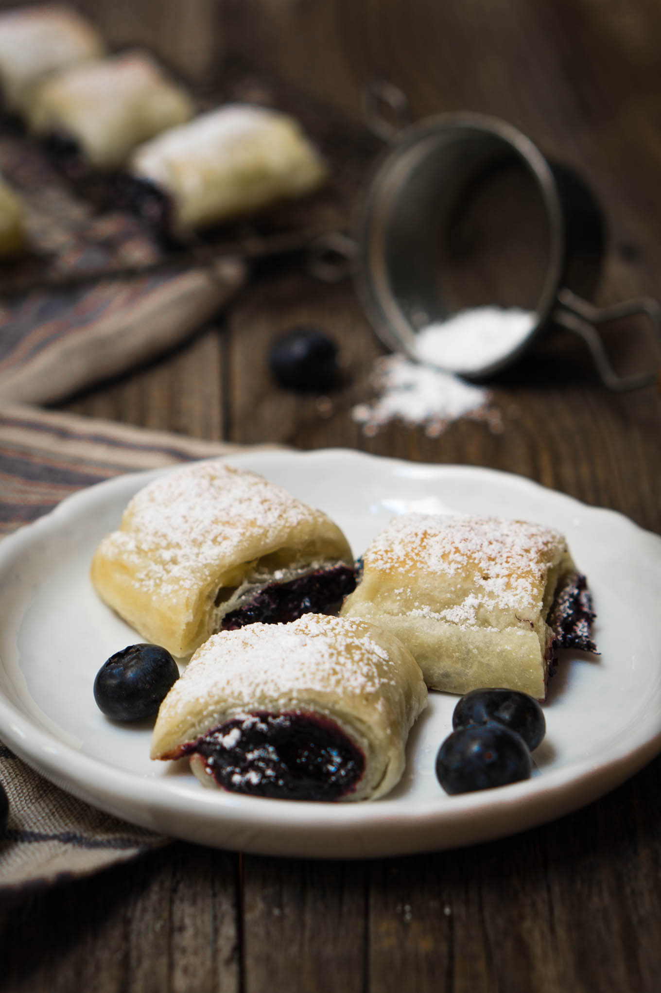 Excellent Blueberry Puff Pastry Rolls Recipe Hostess At Heart Puff Pastry Desserts Plums Peanut Butter Puff Pastry Desserts nice food Puff Pastry Desserts