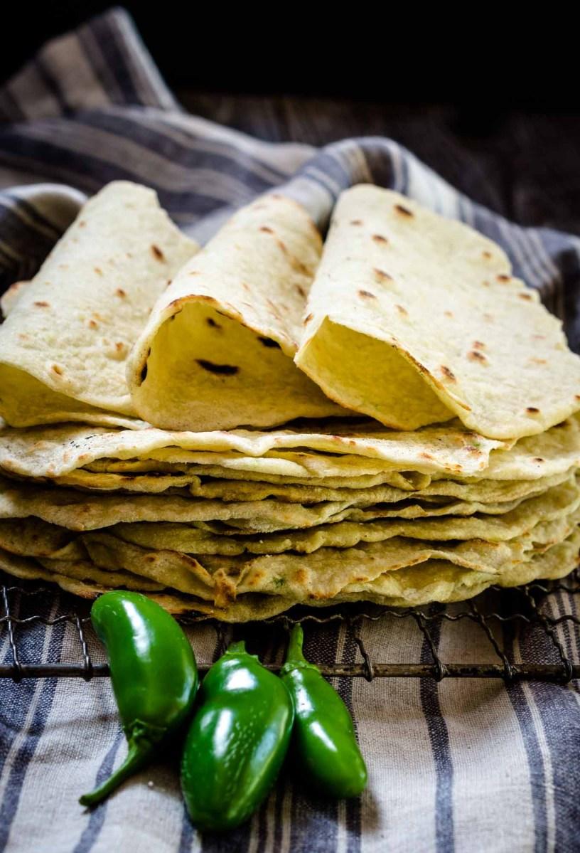 Homemade Jalapeno Tortilla Recipe - #BreadBakers