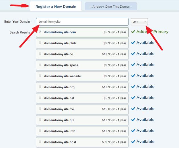 Registering Domain Name