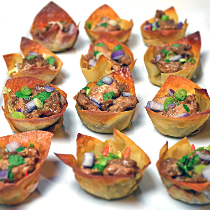 Asian Sesame Ginger Wonton Cups