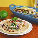 Margarita Fish Tacos with Chipotle Lime Sauce