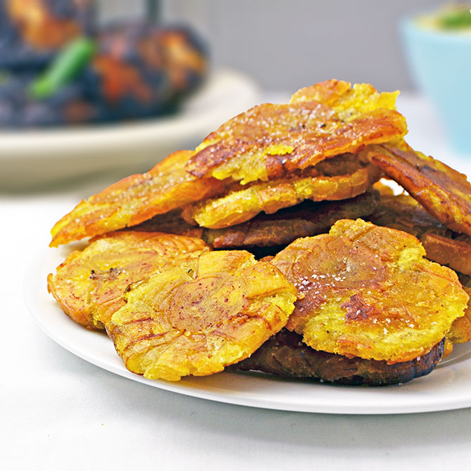 Tostones (Fried Green Plantains) - Host The Toast