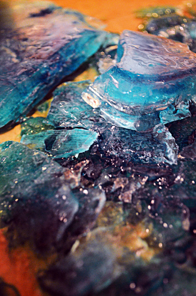 Blue Ice Chips for the Breaking Bad Blue Margarita!