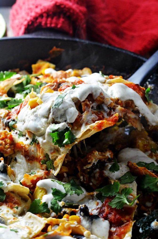 Easy Vegetable Enchilada Skillet. Summer squash, zucchini, poblano ...
