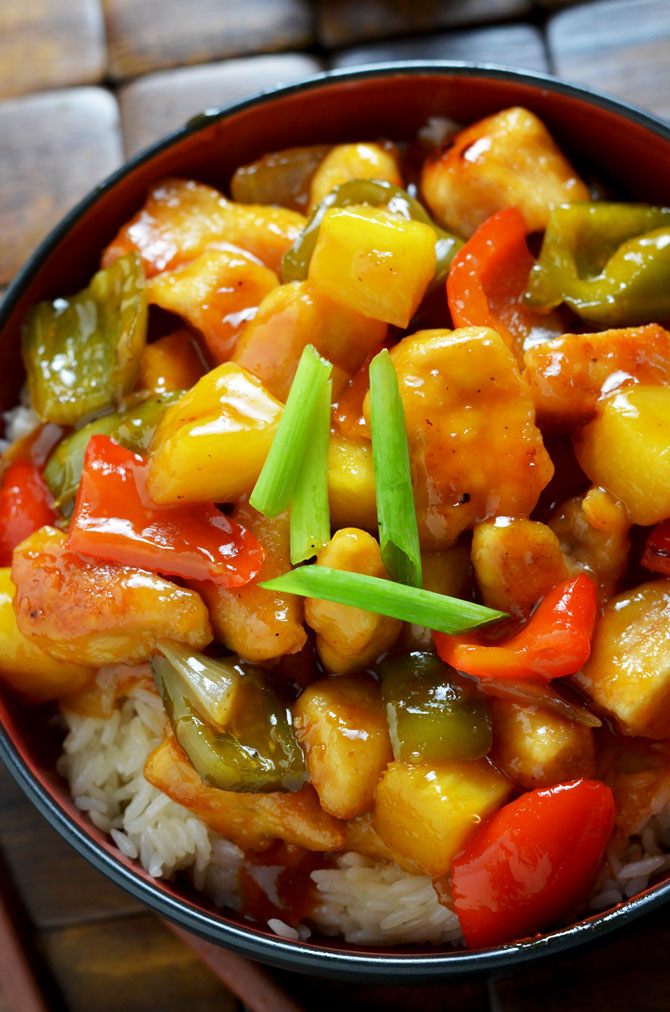 Sweet and Sour Chicken! A healthy, tasty, easy version of the Chinese ...