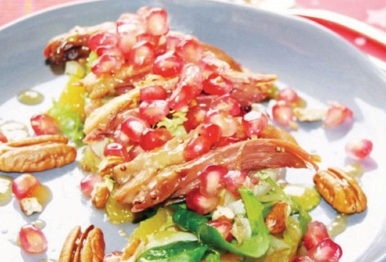 http://www.gastronomiaycia.com/2013/12/02/ensalada-de-confit-de-pato-naranja-y-granada/