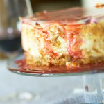 Rhubarb and Orange Baked Cheesecake