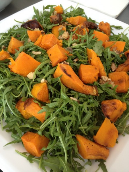 Christmas Day leftovers - Rocket and pumpkin salad
