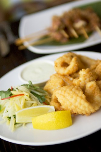 Salt and Pepper Squid with Green Mango Salad