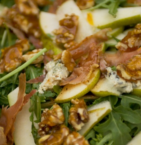Salad with Walnut Praline