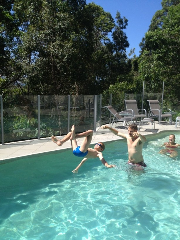 Why not toss your little brother around in the pool!