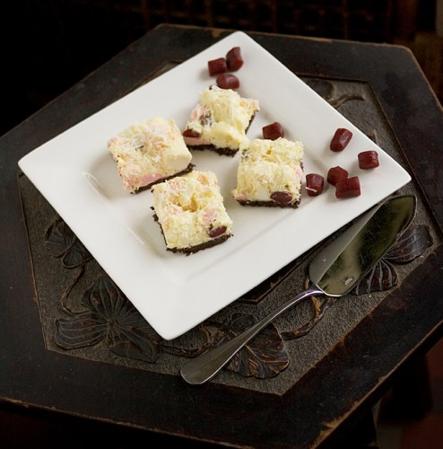 White Chocolate Rocky Road Slice