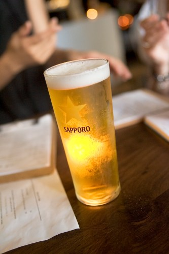 Sapporo beer on tap - $8.50