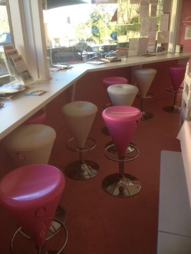 The counter where Carl enjoyed his ice cream