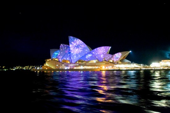 The Opera House as a sea of colour
