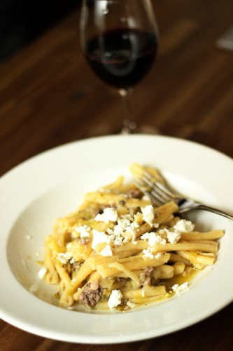 Sausage and Leek Pasta