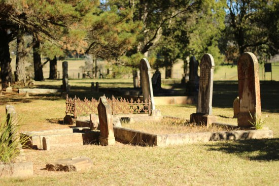 We visited a cemetery dating back to 1806.