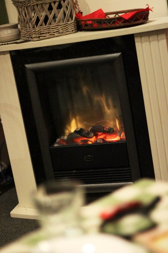 The gas fire