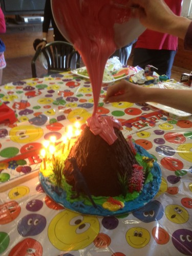 Pouring on the lava