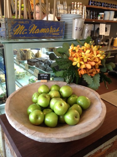 Green apples for $1.00.