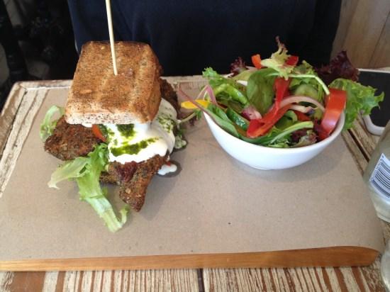 Cajun Chicken Burger on gluten-free bread