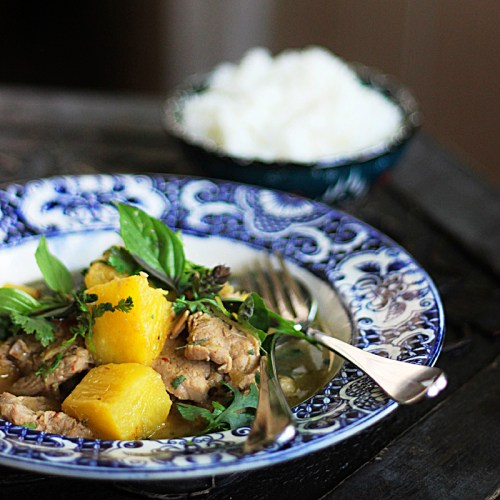 Red Curry of Pork, Pineapple and Ginger