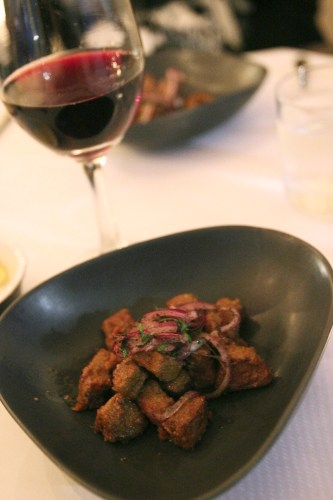 Calf liver with Spanish onion, sumac and parsley