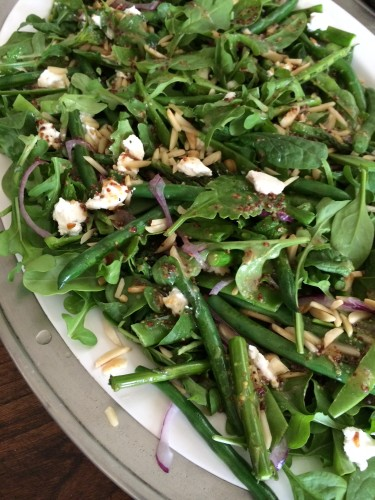 Pip's green salad with Persian feta - very fresh and vibrant