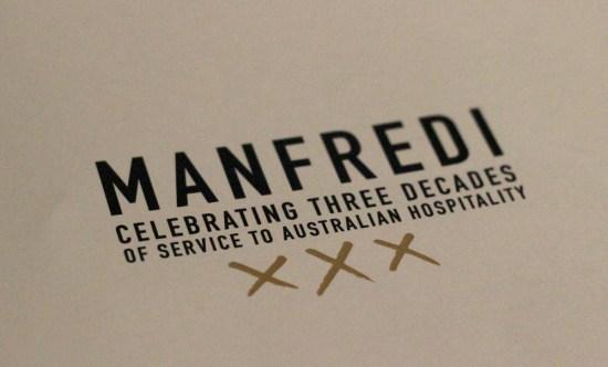 The celebratory menu