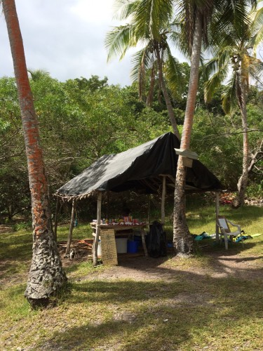 The shop where you can hire snorkelling equipment and buy a few snacks and drinks.