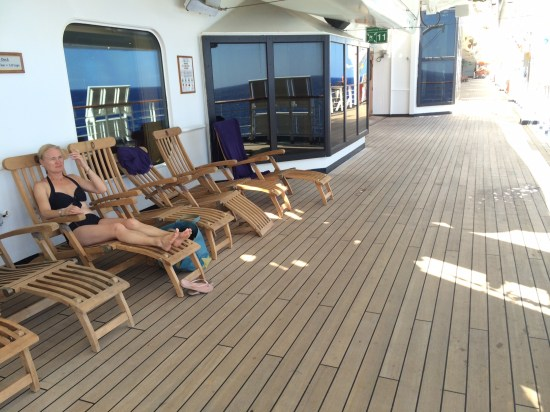 Relaxing on Deck 3 in peace and solitude.