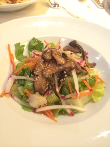 Salad:  Shiitake Salad with Sesame-Ginger Vinaigrette.  I loved this.  Full of flavour and crunch.