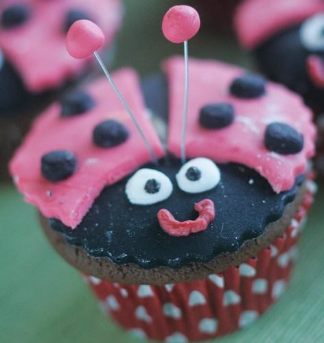 A ladybird cupcake