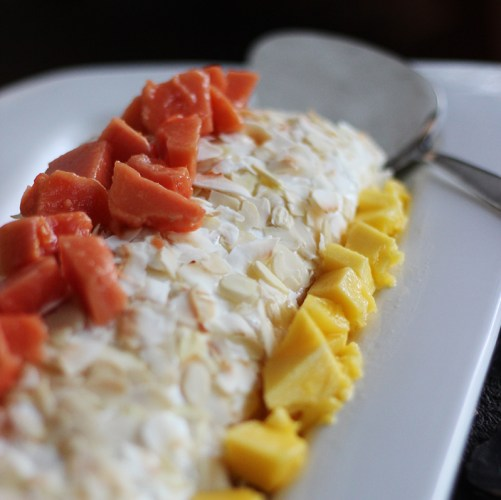 Gluten-free Tropical Meringue Roulade