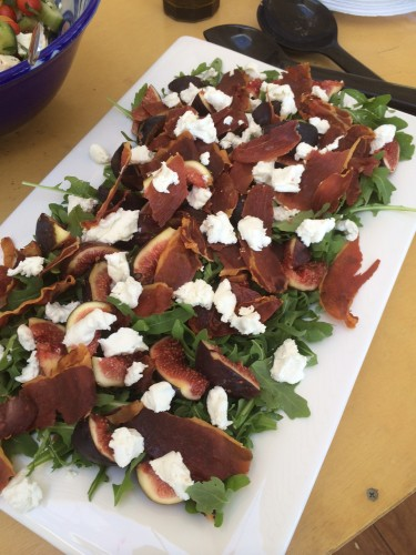 Fig, prosciutto and rocket salad