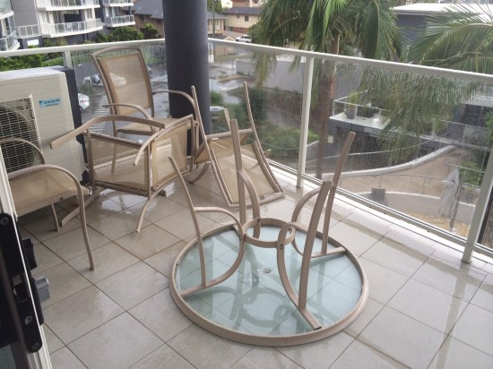 The furniture on our balcony