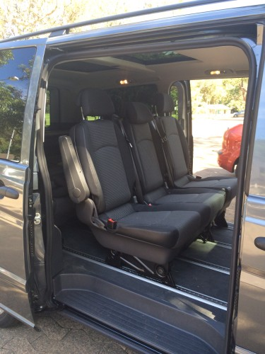 The dual side doors are very wide opening making it easy to get in and out of the vehicle