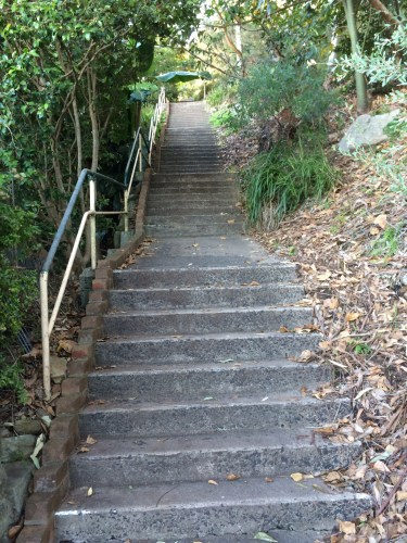 Just 200 stairs to go!