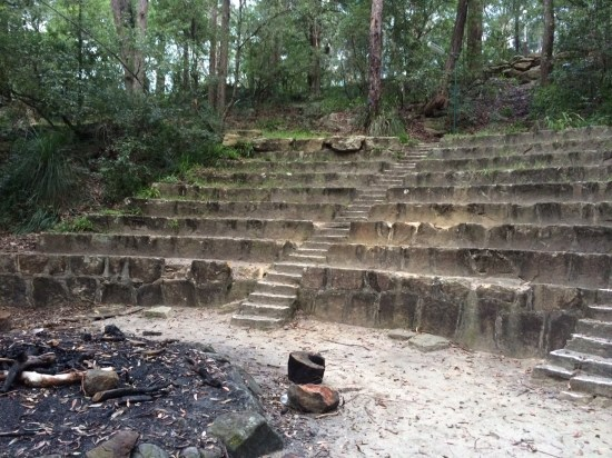 The ampitheatre built by the homeless in the depression seats 200