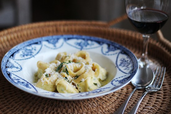 Ricotta and Lemon Tortellini with Tarragon and Ricotta Salata