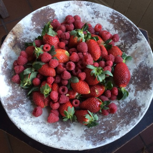 My new platter loaded with berries