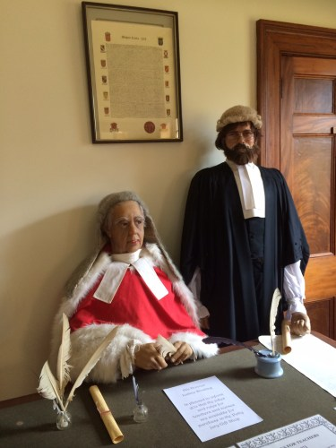 A judge and a barrister from the 1830's
