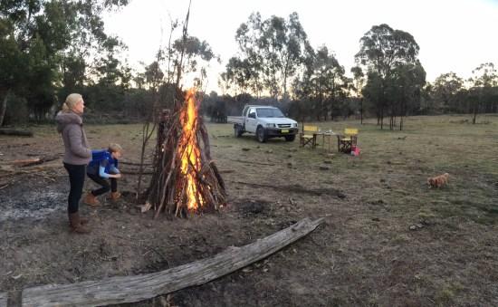The fire comes alive