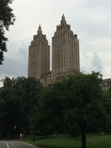 View from the park of Fifth Avenue